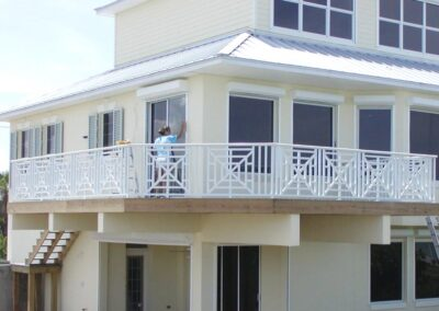 Cantilevered Deck by Land and Sea Marine