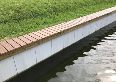 Land and Sea Marine Wood and Vinyl Cap Seawalls