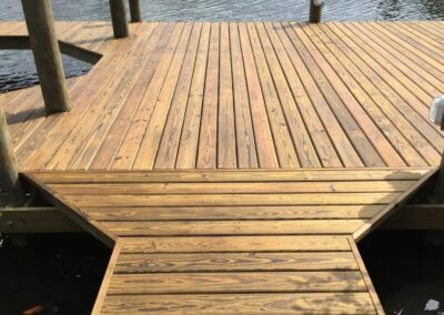 Southern Pine Decking used by Land and Sea Marine