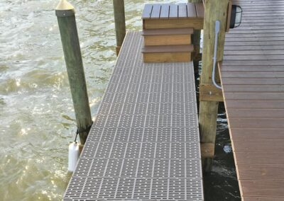Grated decking used by Land and Sea Marine