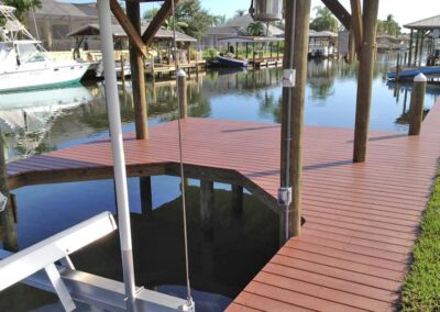 Vinyl Decking used by Land and Sea Marine