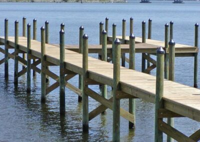 Land and Sea Marine Big Boat River Dock