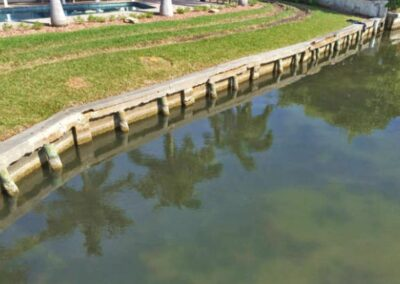 Concrete Cap Vinyl Seawalls by Land and Sea Marine