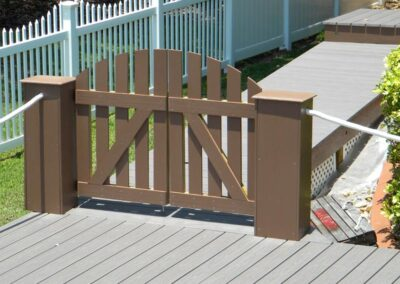 Double Custom Privacy Gate by Land and Sea Marine