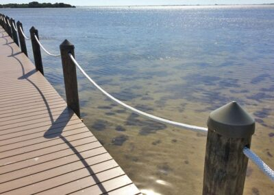 Rope handrail by Land and Sea Marine