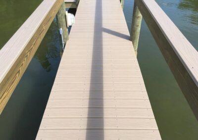 Vinyl clad handrail by Land and Sea Marine