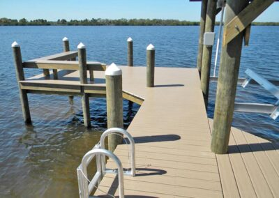 Land and Sea Marine River Dock with Boathouse
