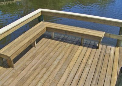 Dock Seating by Land and Sea Marine