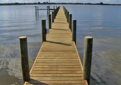 Land and Sea Marine Winding Boardwalk River Dock